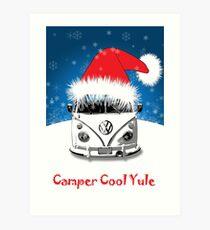 Camper Camper Cool Yule Christmas Art Print