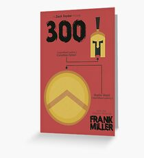 300, minimal movie poster, Zack Snyder film with Gerard Butler, from the graphic novel by Frank Miller, Thermopylae battle, Greeting Card