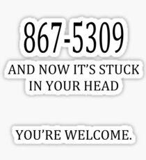 8675309 Jenny's Number  Sticker