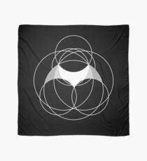 Bat Design with Circle Grid Background Scarf