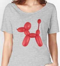 Red Balloon Dog Women's Relaxed Fit T-Shirt