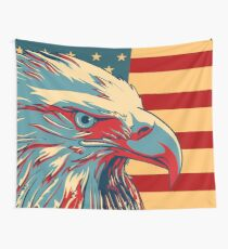 American Patriotic Eagle Bald Wall Tapestry