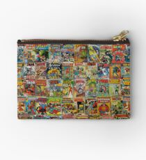 Vintage Comic Book Pattern Zipper Pouch