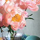 Peachy Peonies by Colleen Farrell