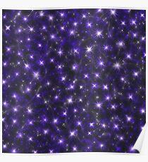 Ultra Violet Starry Sky  Poster