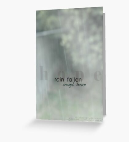 Hope Showers © Greeting Card