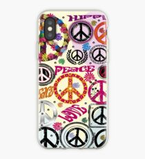 Flower Power Peace And Love Hippie  iPhone Case