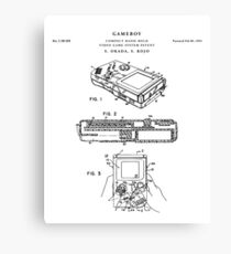 Gameboy Patent Drawing Blueprint Canvas Print