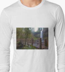 Wood Bridge at Silver Falls State Park Long Sleeve T-Shirt