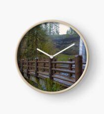 Wood Bridge at Silver Falls State Park Clock