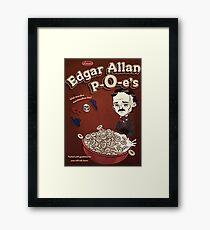 Once Upon a Breakfast Dreary - Edgar Allan P-O-e's  Framed Print