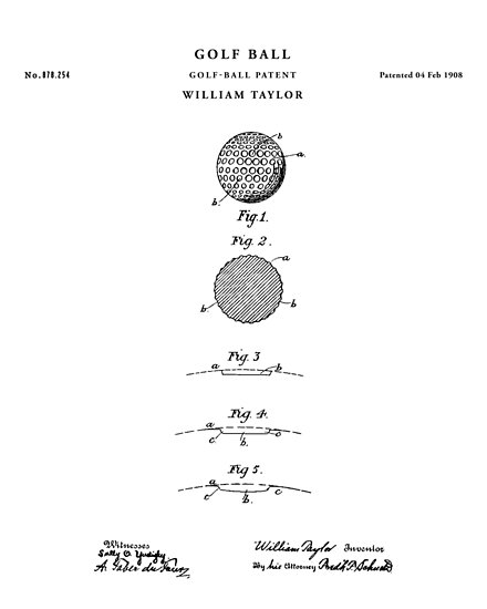 Golf ball patent drawing blueprint posters by vintago redbubble golf ball patent drawing blueprint by vintago malvernweather Image collections