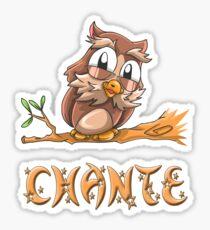 Chante Owl Sticker