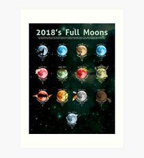 2018's Full Moons Art Print