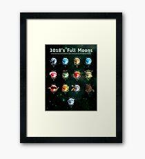2018's Full Moons Framed Print