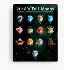 2018's Full Moons Canvas Print