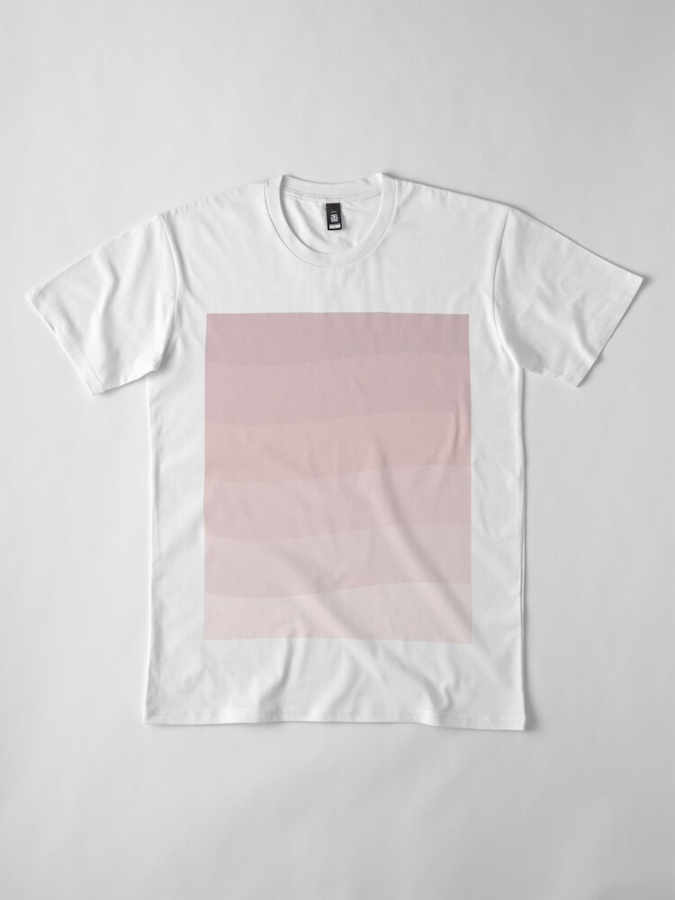 Alternate view of Pink wave. Premium T-Shirt