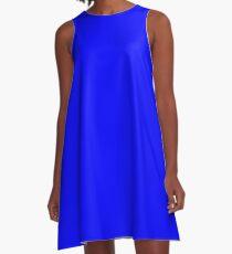 Solid Sky Blue A-Line Dress