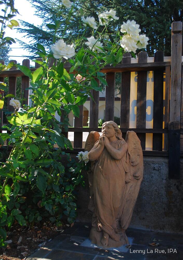 praying angel from historic St Emmanuel's Episcopal Church by Lenny La Rue, IPA