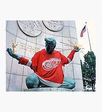 The Spirit of Detroit - Go Wings! Photographic Print