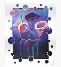 Purple Calla Flowers Poster
