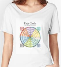 Unit Circle with Radian Measures Women's Relaxed Fit T-Shirt