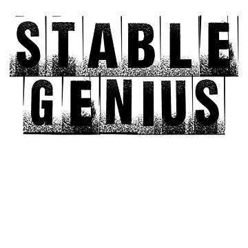 Stable Genius Unstable Print  by TheVeeboo