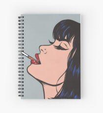 Smoking Girl Spiral Notebook