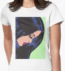 Crying Comic Girl Women's Fitted T-Shirt