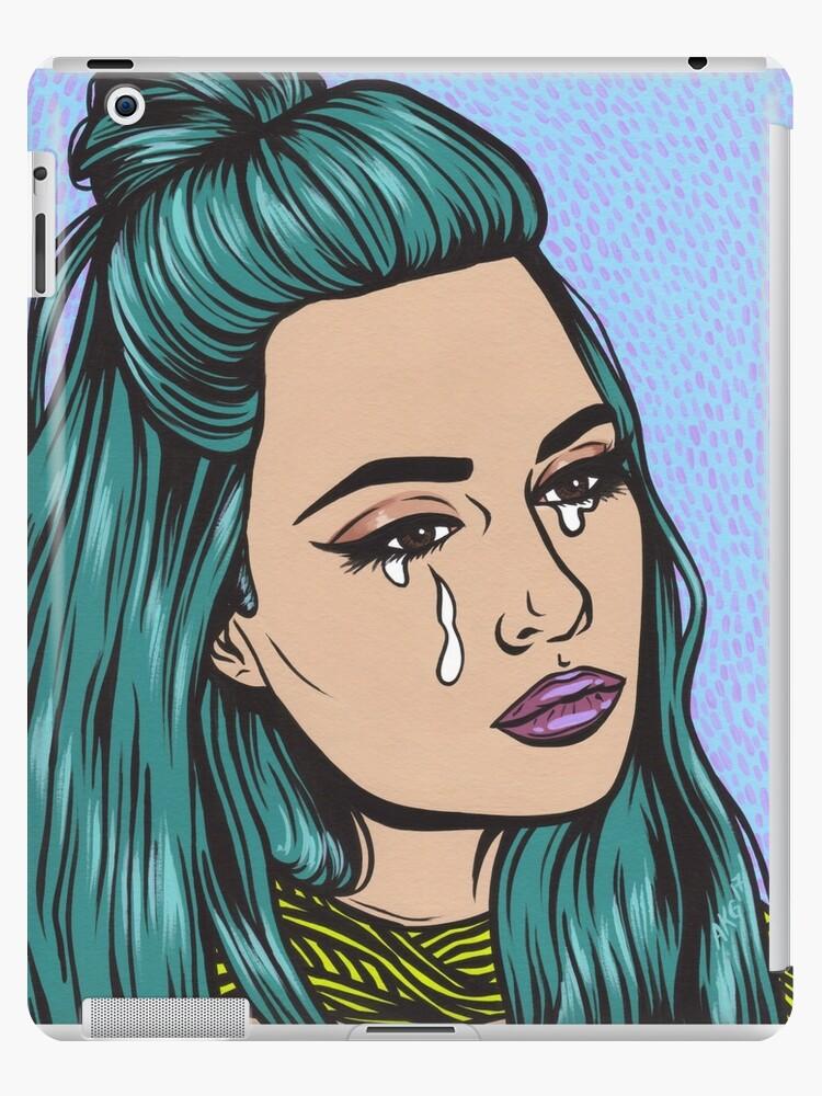 mwo,x1000,ipad_2_snap-pad,750x1000,f8f8f8.u2 Awesome Pop Art Comic Girl Crying @koolgadgetz.com.info