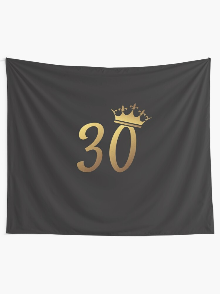 30th Birthday Queen 30 Year Old Girl Gold Party Gift Wall Tapestry