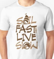 nautical Sail Fast vertical brown Unisex T-Shirt