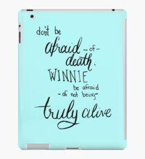 Don't Be Afraid Light Blue iPad Case/Skin