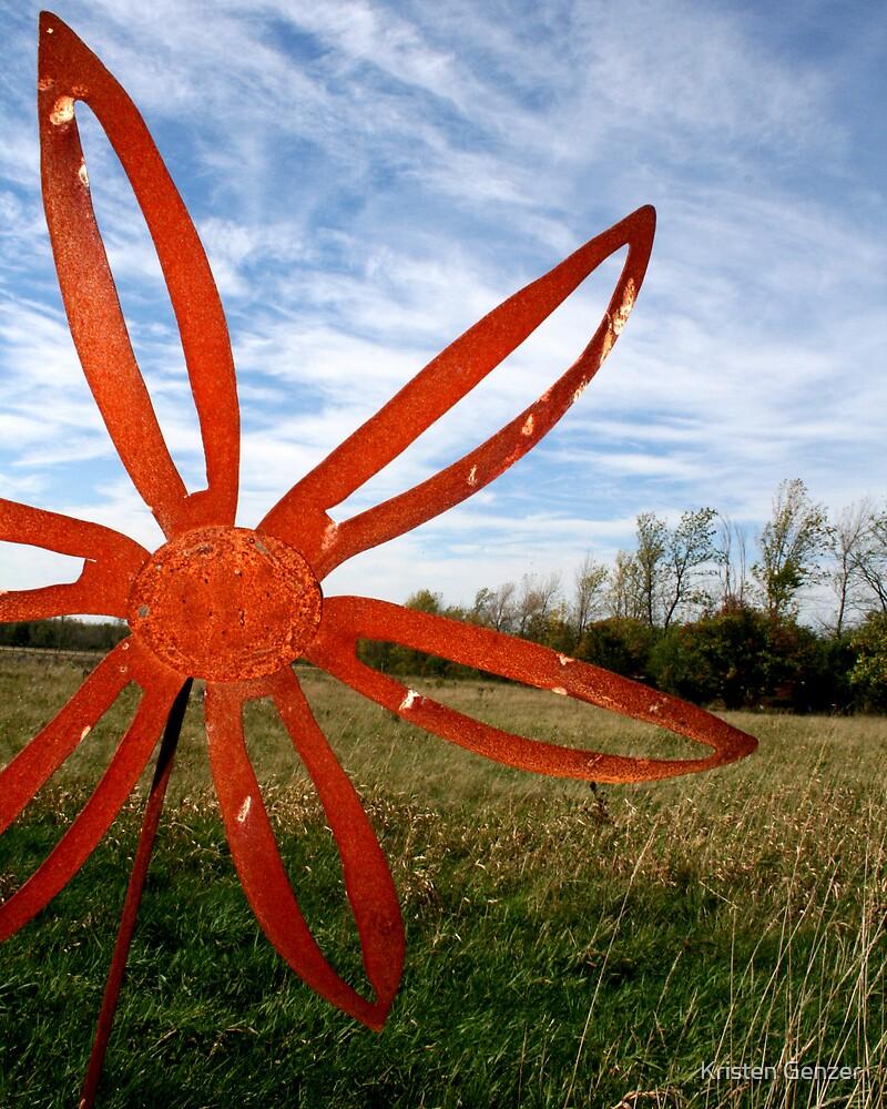 rusted flower by Kristen Genzer