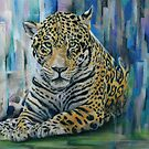 Homeless - Jaguar on Abstract City background by chromaddict