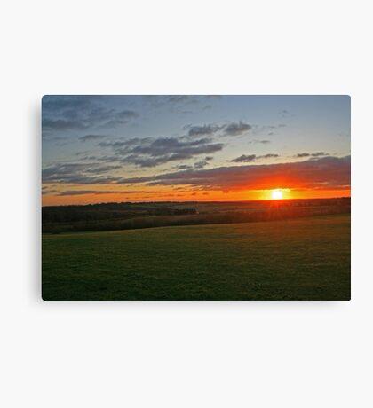Meon Sunset Canvas Print