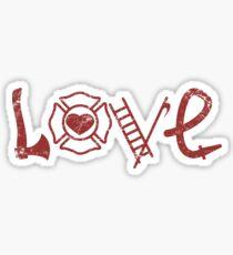 Pegatina Amor bombero