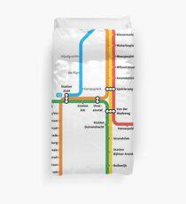 Amsterdam Metro Duvet Cover