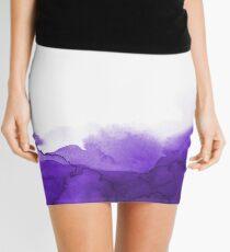 STORM PURPLE WATERCOLOUR Mini Skirt
