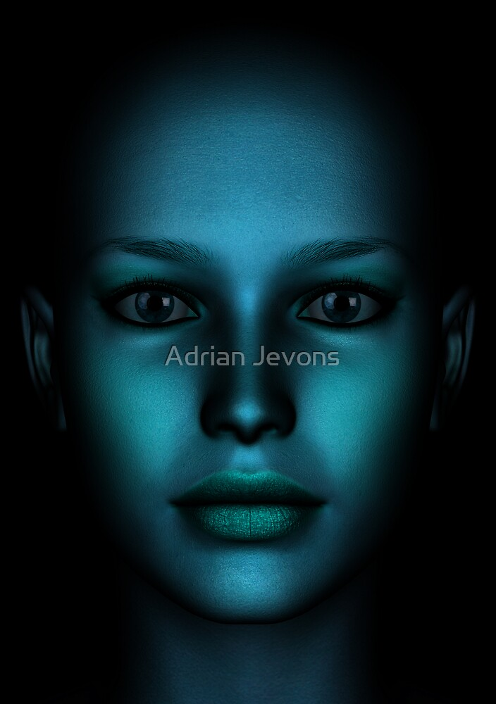 Face Blue 02 by Adrian Jevons