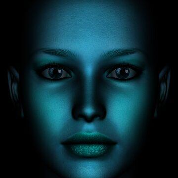 Face Blue 02 by JevoUK