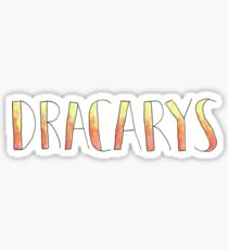 Dracarys Fire Font Quote Sticker