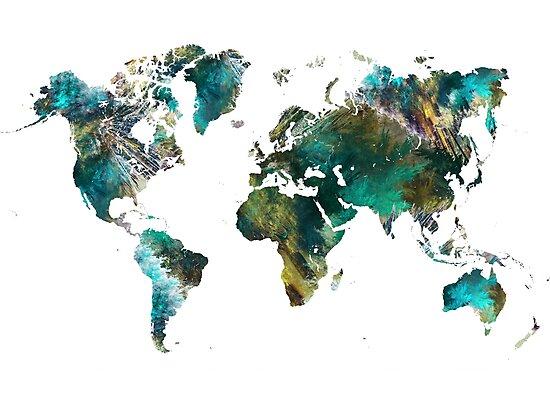 World Map tree by JBJart