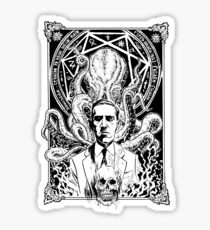Lovecraft and Cthulhu Sticker