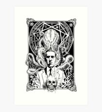 Lovecraft and Cthulhu Art Print