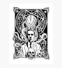 Lovecraft and Cthulhu Photographic Print