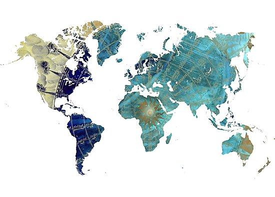 World map wind rose by JBJart