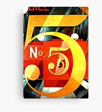 Demuth - I Saw the Figure Five in Gold Canvas Print