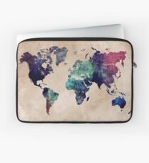 World Map cold World Laptop Sleeve