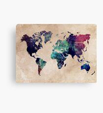 World Map cold World Canvas Print